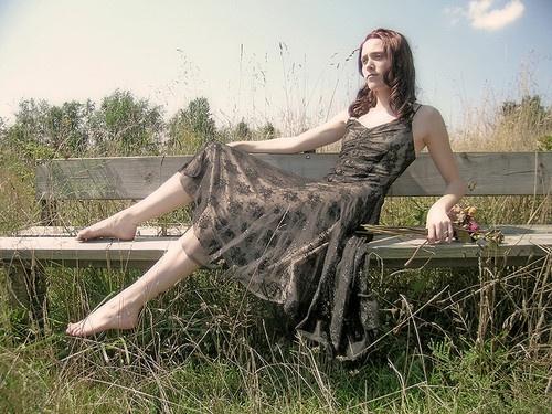 Laura on Bench by michelleblack