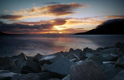 Carlingford lough Sunrise by garymcparland