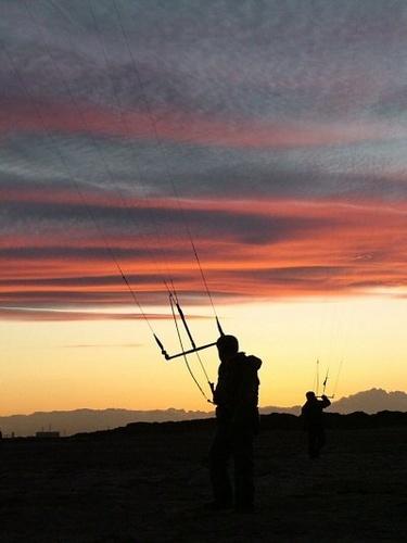 Kite silhouette by terra