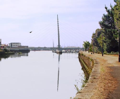 Sail bridge over River Tawe in Swansea by swanseajack