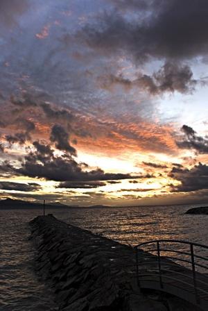 Sunset in Switzerland by Benji
