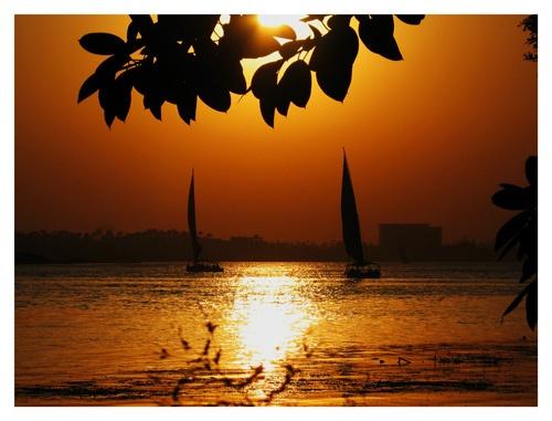 Nile sunset by PAllitt