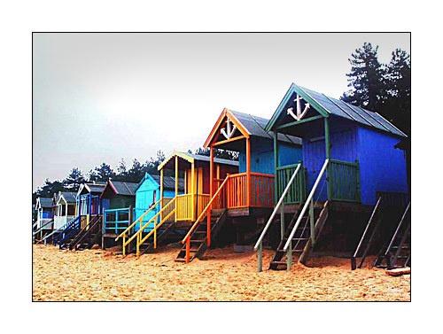 Beach Huts by moglen