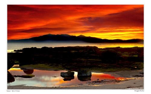 Arran Sunset by douglasR