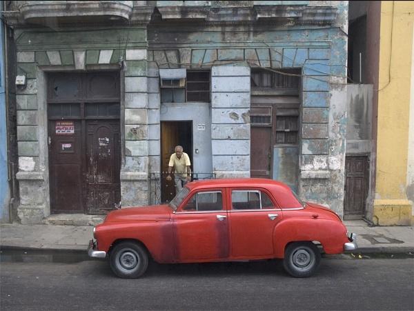 Colourful Cuba #1 Red Car by ReidFJR