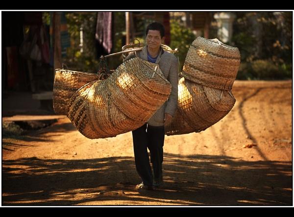 Basket Weaver & Seller by TonyA