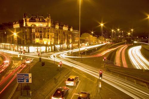 Glasgow Traffic Trails by trickydicky