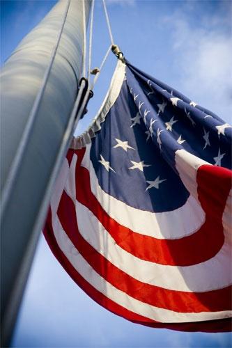 American Flag Pole by sarah kruger