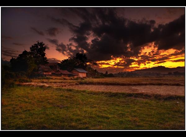 Laos Sunset by TonyA