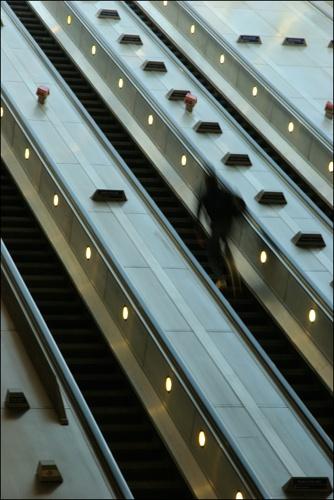 Escalator Man by davart