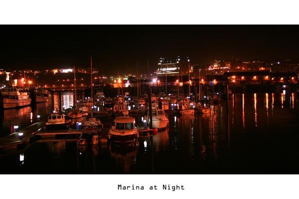 Marina At Night by mickf1
