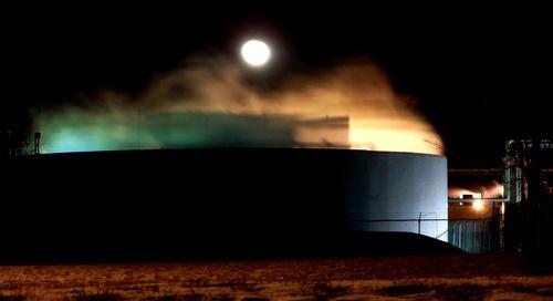 Moon over industry by zenmastr