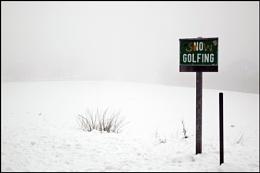Snow Golfing !