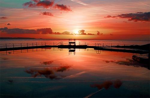 pool reflection by carlton