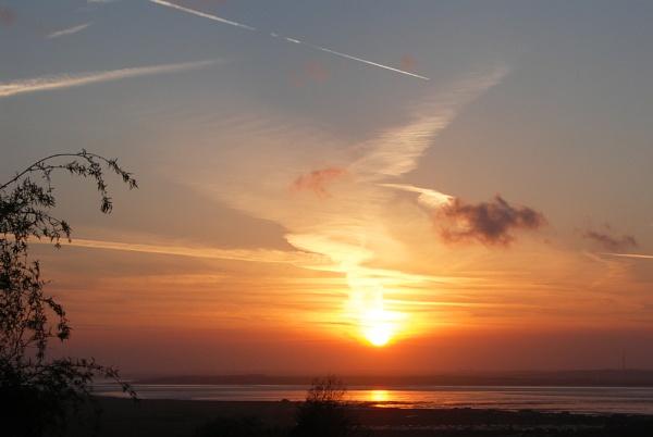 April Sunset by hughscott