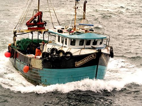 Prawn Trawler Coming into Mallaig by Finlayoman