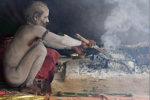 Naked Sadhu by DirkV