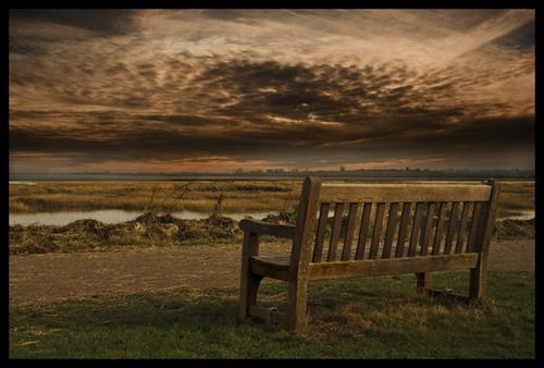 park bench by juliejump