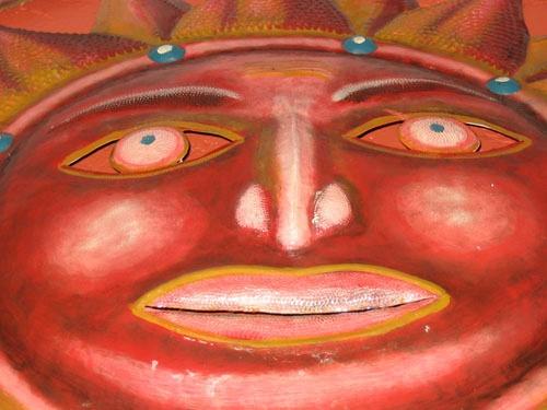 Sun Face Sculpture by Axxl
