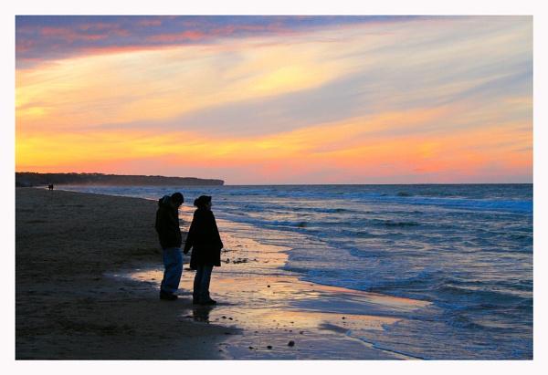 Omaha Beach Sunset by ITSJRW