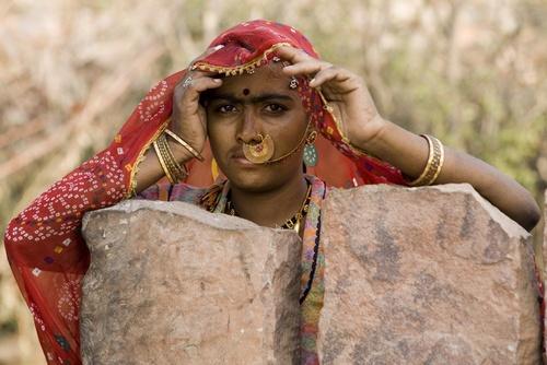 women in Bishnoi village by DirkV