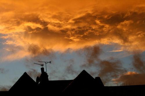 Sky at dusk by awf1