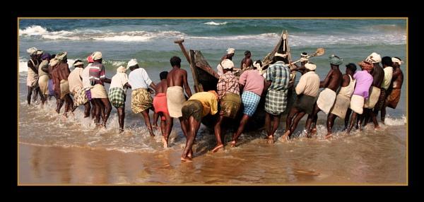 Kerala fishermen by RobDougall