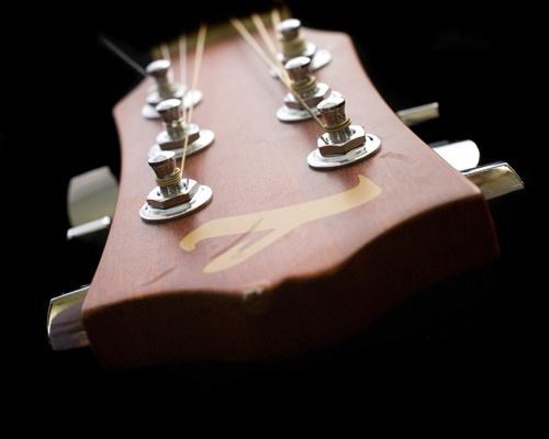 Guitar close up by tinabolton