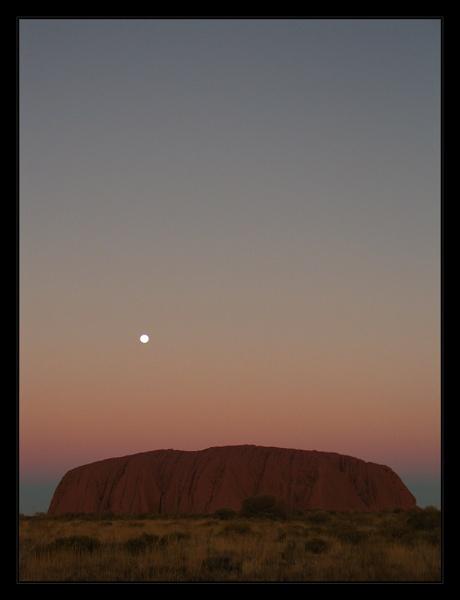 Uluru in Pastel Sky by iansamuel