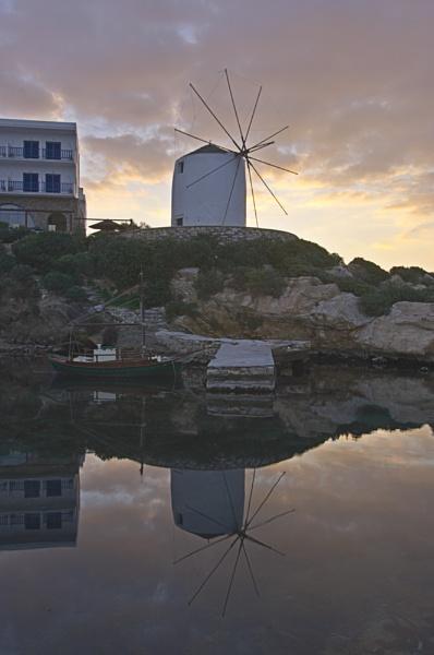 Paros Windmill by ahollowa
