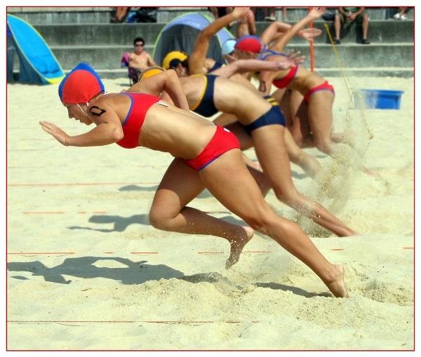 Girls\' Sand Sprint, Coogee Beach Surf Carnival by GavMc