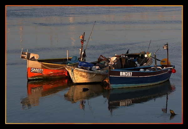 Sunset Fishing Boats 2 by BRIGHTon_SPARK