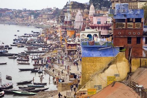 ghats from Varanasi by DirkV