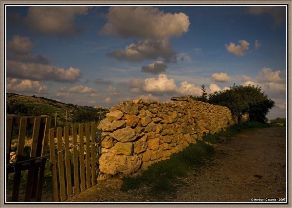 Rubble Wall - II by BertC