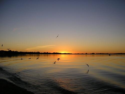 Sunset at Barmera by cymroDan