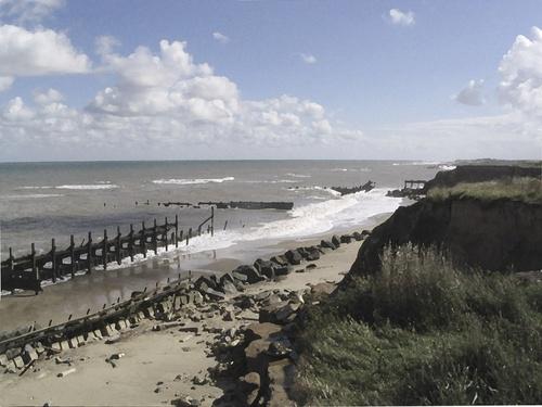 Destruction of Happisburgh Beach, Norfolk. by quirkylady