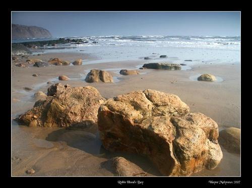 Rocks at Robin Hoods Bay by waymol