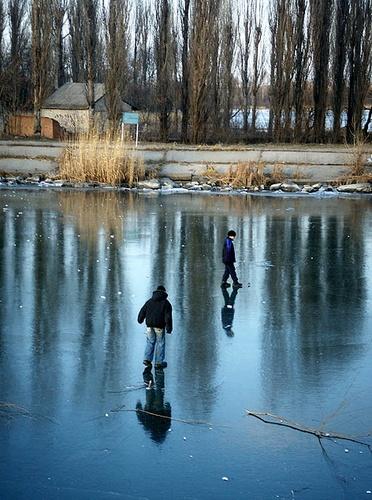 river in ice by narni