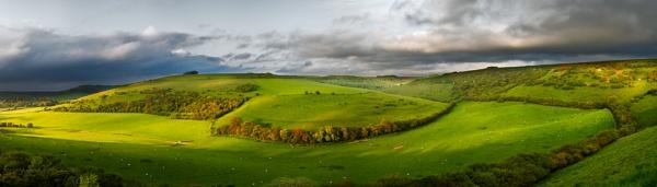 Melbury Down Panorama by Henchard