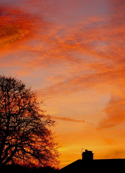 Burning Sun Set by Bowley