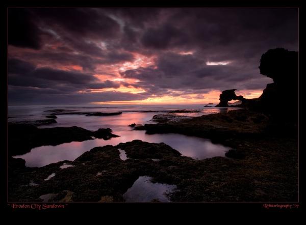 Erosion City Sundown by Robsterios