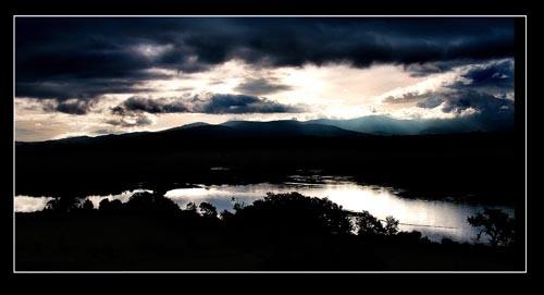 menai straits sunrise by whiteboxer