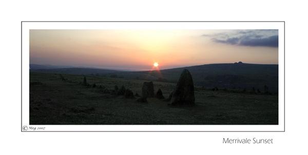 Merrivale Sunset by Meg