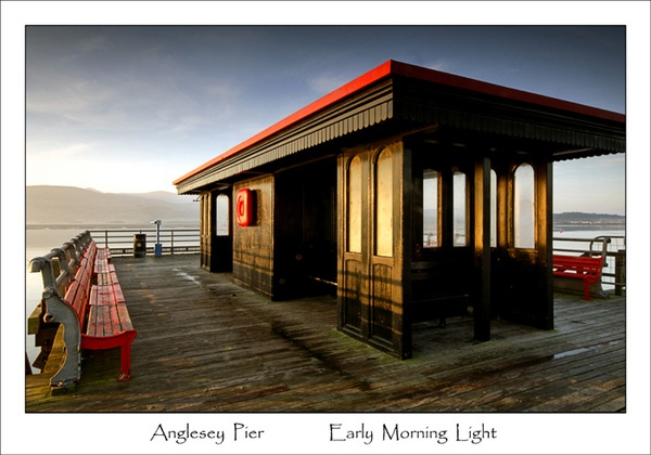 Anglesey Pier...Early Morning Light by chrissycj