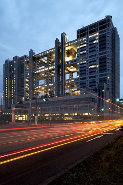 Fuji TV station building, Odaiba. Tokyo bay by pikey