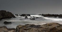 Dawn Stag rock Bay Bambrugh