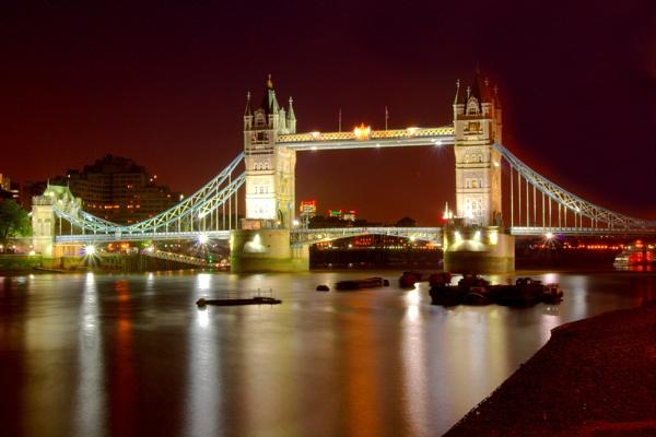 Tower Bridge & Barges by EeeZeeLee