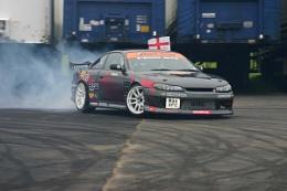 drifting at santa pod