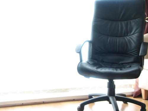 chair in window by russsherwood