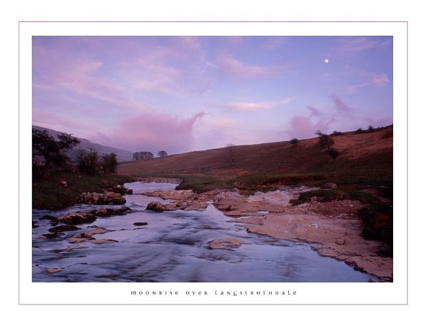 moonrise over langstrothdale by paulrankin